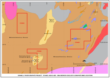 Figure 3: Donnelly River geology and tenure